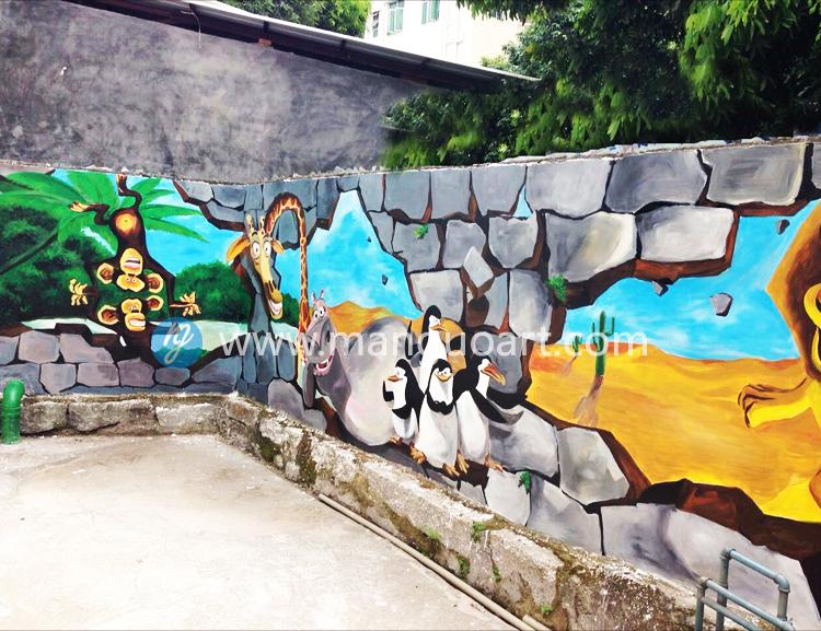 致青春墙绘素材